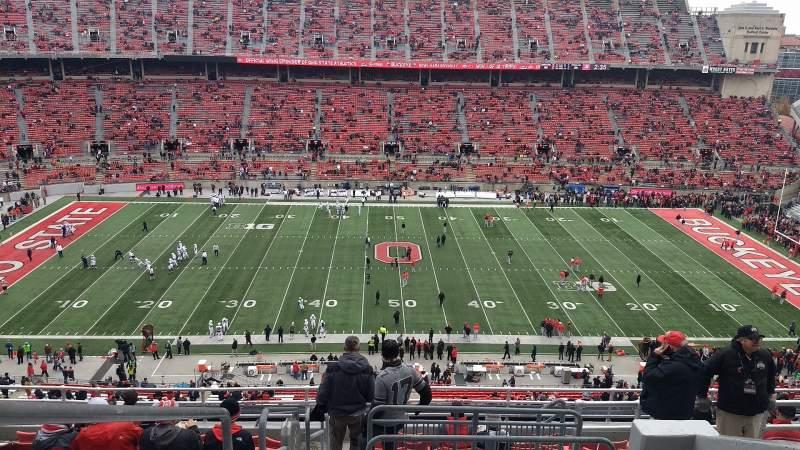 Vista sentada para Ohio Stadium Secção 21C Fila 13 Lugar 1