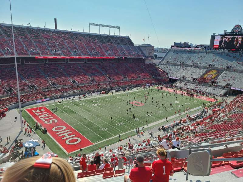 Vista sentada para Ohio Stadium Secção 11C Fila 18 Lugar 27