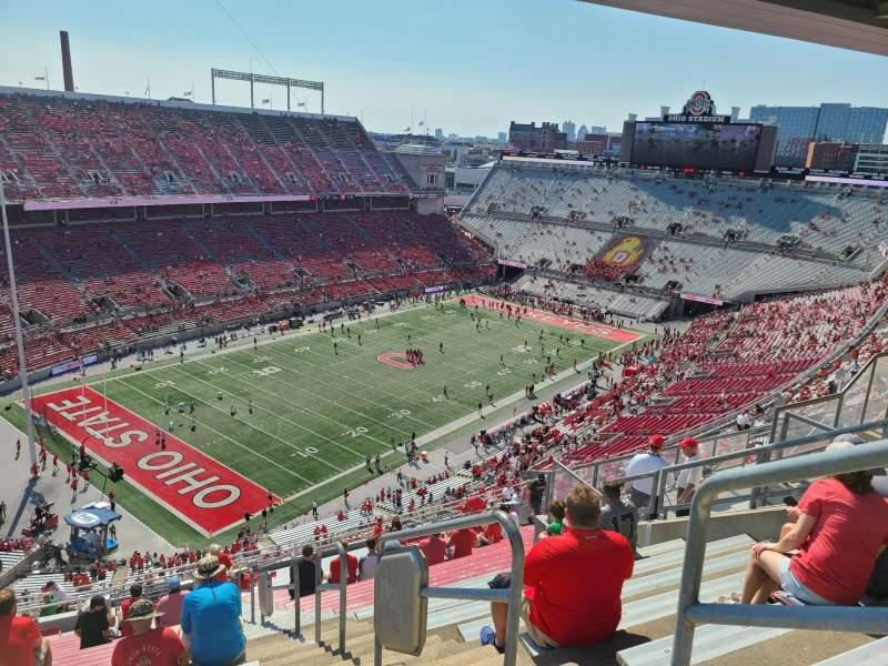 Vista sentada para Ohio Stadium Secção 11C Fila 33 Lugar 18
