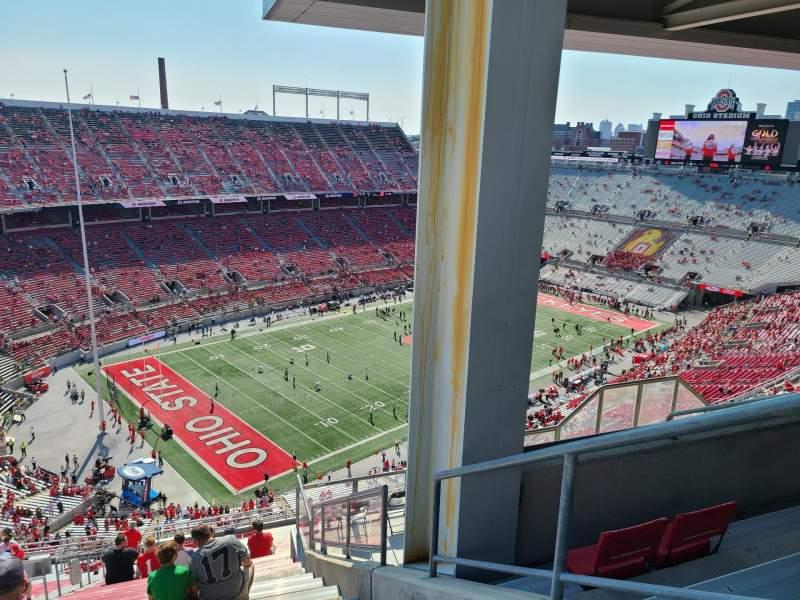 Vista sentada para Ohio Stadium Secção 11C Fila 34 Lugar 25