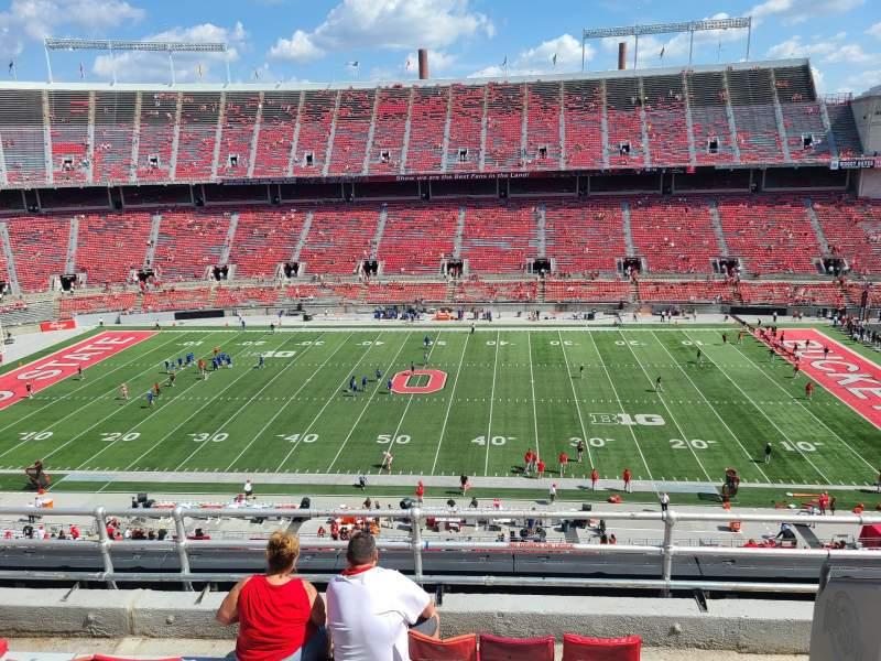 Vista sentada para Ohio Stadium Secção 21C Fila 6 Lugar 32