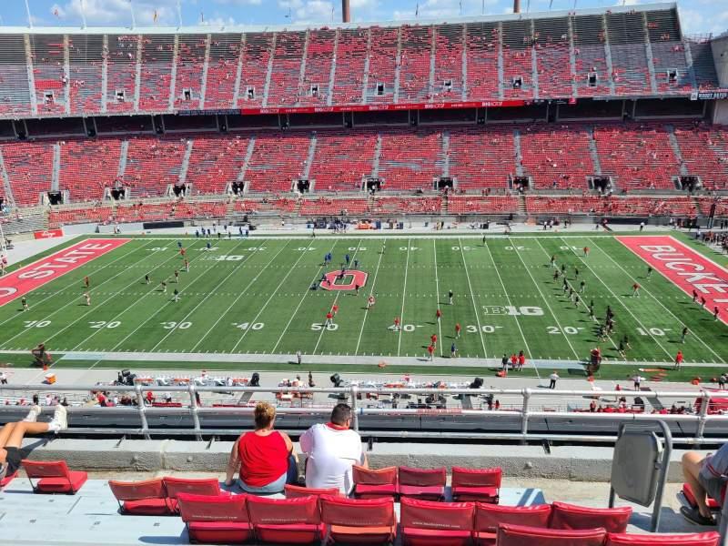 Vista sentada para Ohio Stadium Secção 21C Fila 7 Lugar 32
