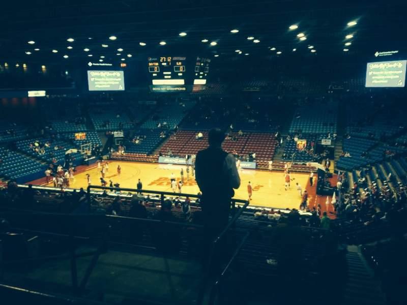 Vista sentada para University Of Dayton Arena Secção 309 Fila F Lugar 12