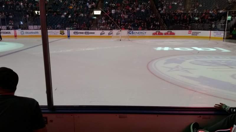 Vista sentada para Nationwide Arena Secção 102 Fila C Lugar 13