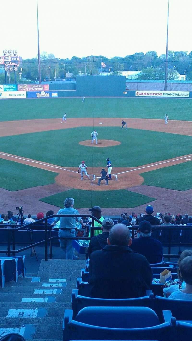Vista sentada para Herschel Greer Stadium Secção MM Fila 11 Lugar 1