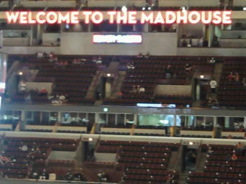 Vista sentada para United Center Secção 314 Fila 9 Lugar 1