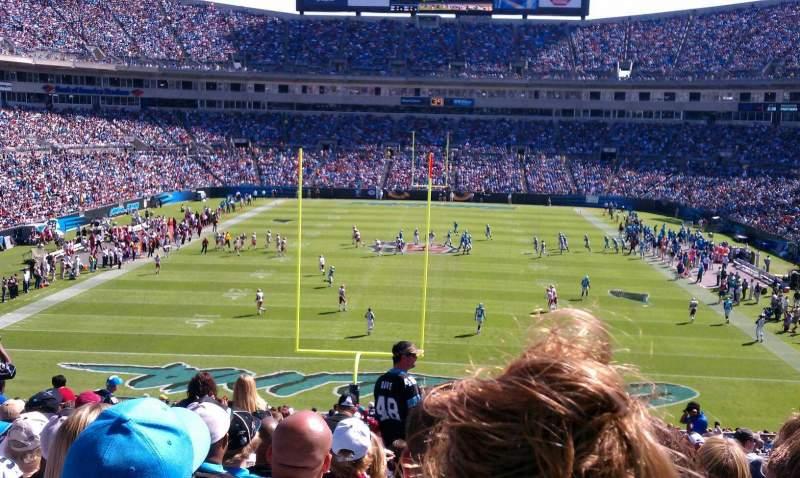 Vista sentada para Bank of America Stadium Secção 202 Fila 16 Lugar 9