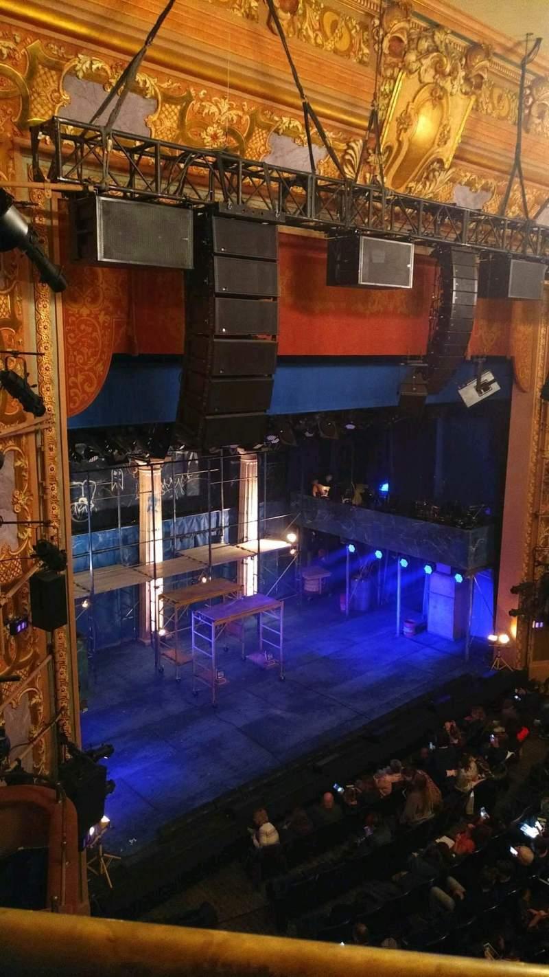 Vista sentada para Longacre Theatre Secção balcony l Fila A Lugar 24