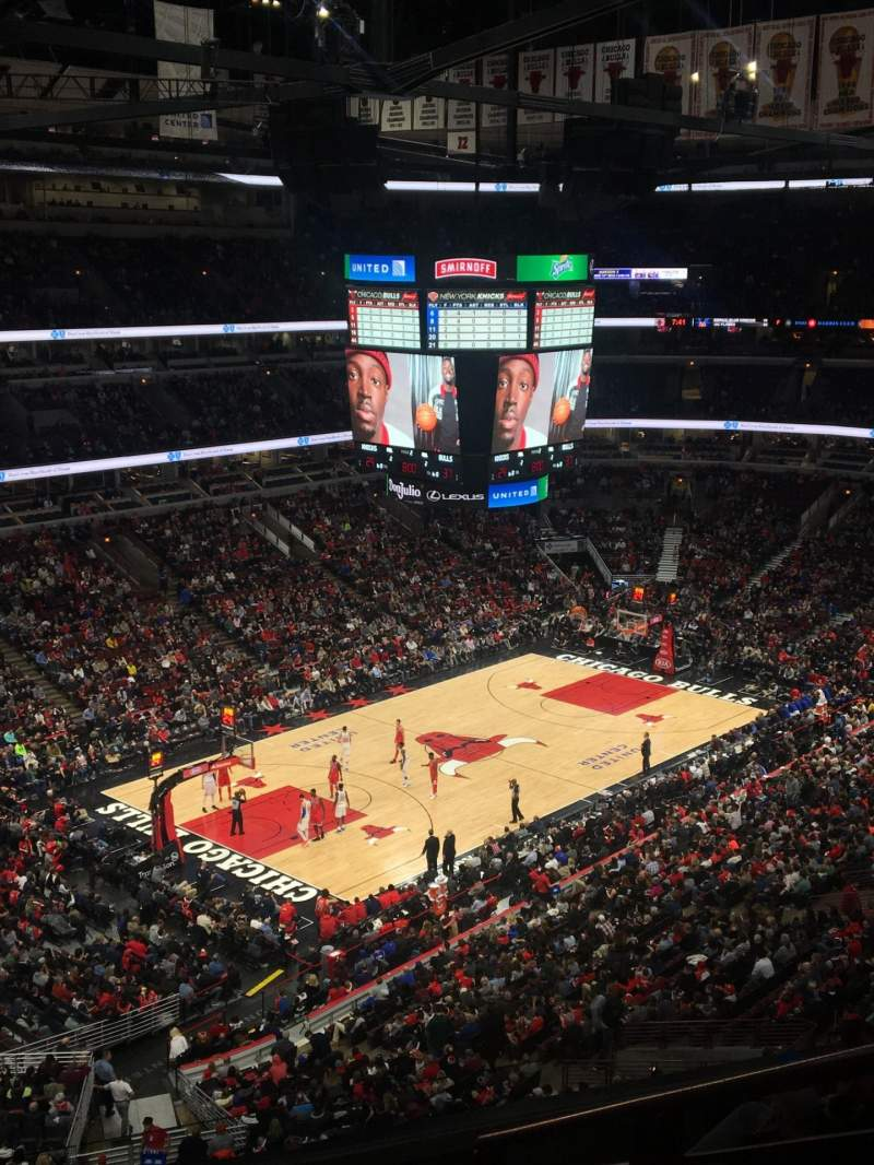 Vista sentada para United Center Secção 220 Fila 6 Lugar 5
