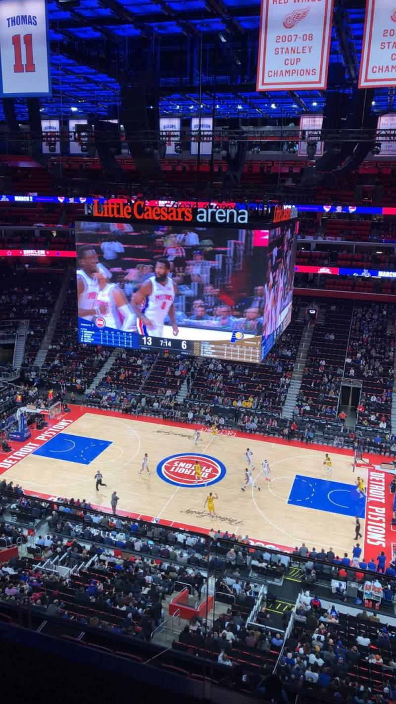 Vista sentada para Little Caesars Arena Secção 225 Fila 1 Lugar 1