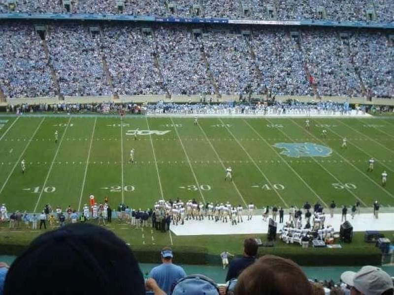 Vista sentada para Kenan Memorial Stadium Secção 204 Fila P Lugar 28