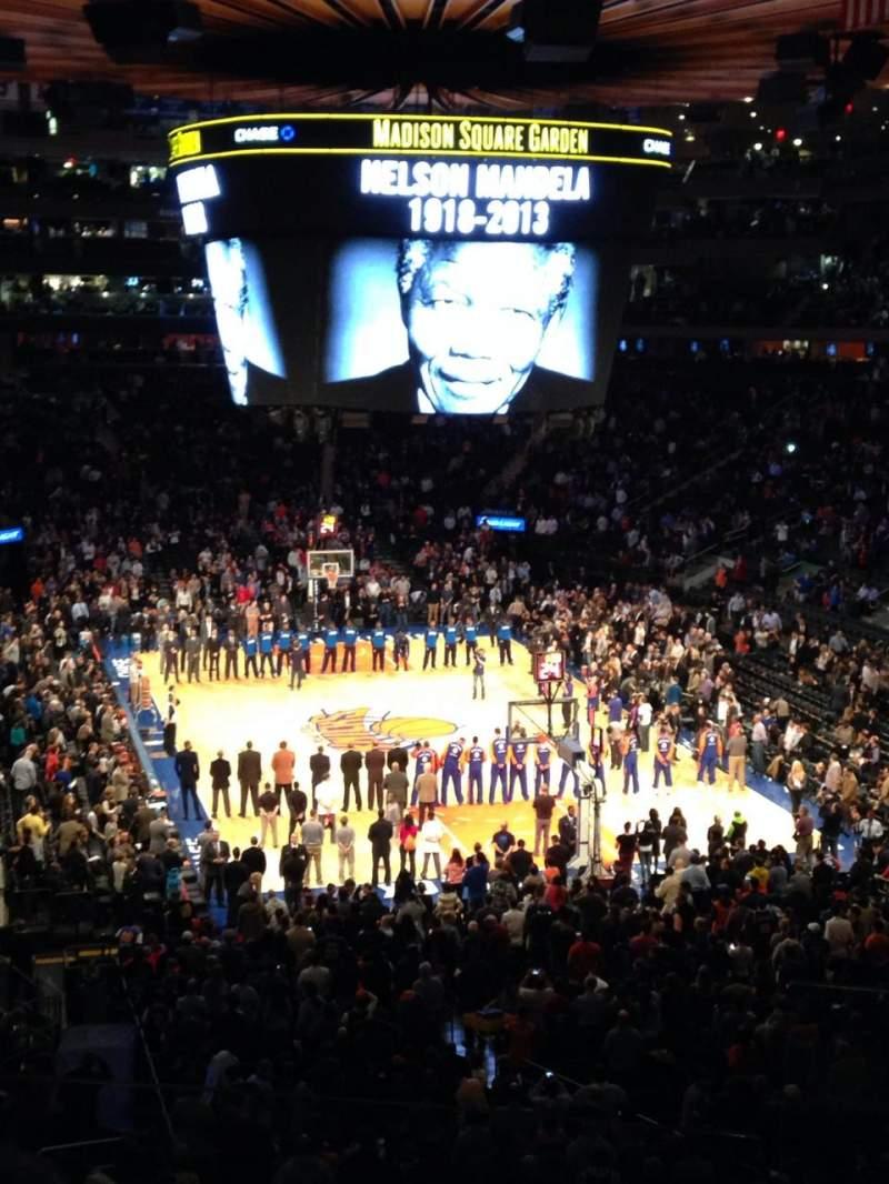 Vista sentada para Madison Square Garden Secção 216 Fila 3 Lugar 23