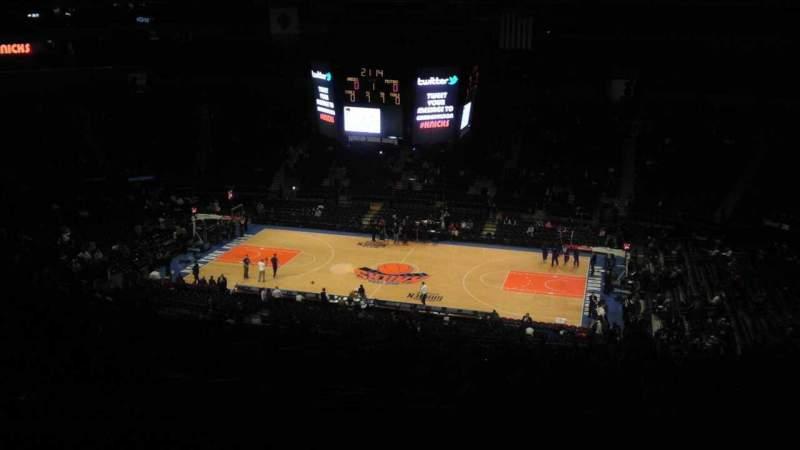 Vista sentada para Madison Square Garden Secção 412 Fila e Lugar 1