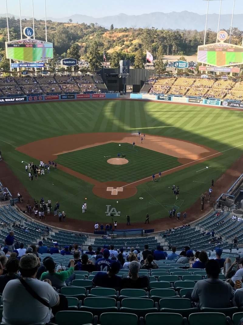 Vista sentada para Dodger Stadium Secção 1RS Fila W Lugar 5