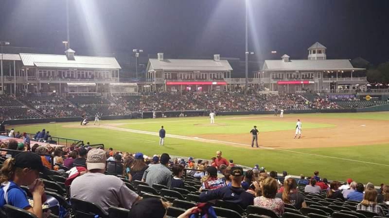 Vista sentada para Dr Pepper Ballpark Secção 123 Fila 23 Lugar 1
