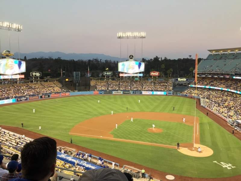 Vista sentada para Dodger Stadium Secção 9RS Fila G Lugar 9