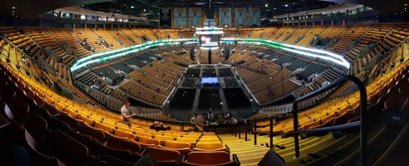 Vista sentada para TD Garden Secção BAL 324 Fila 15 Lugar 1