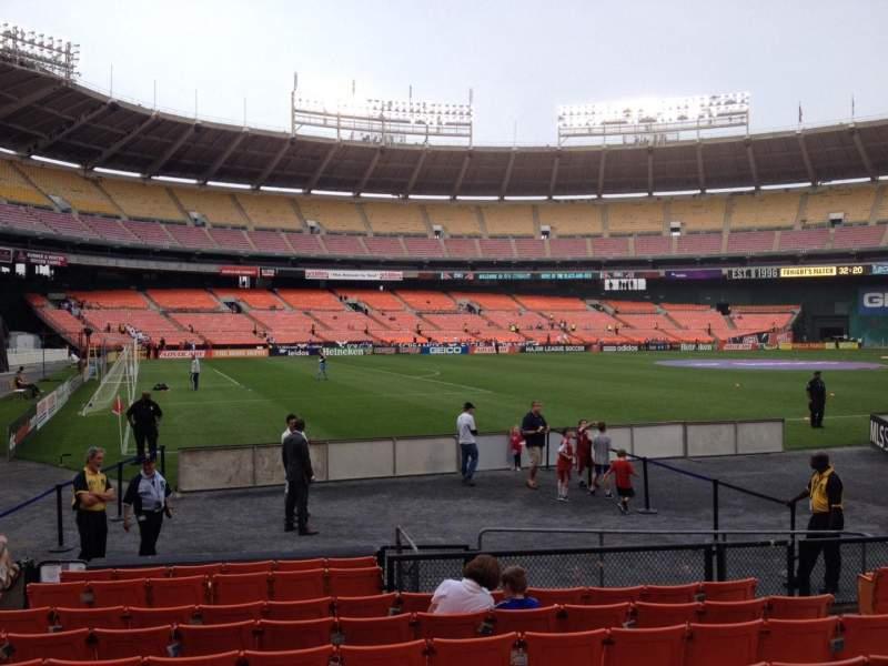 Vista sentada para RFK Stadium Secção 113 Fila 9 Lugar 8