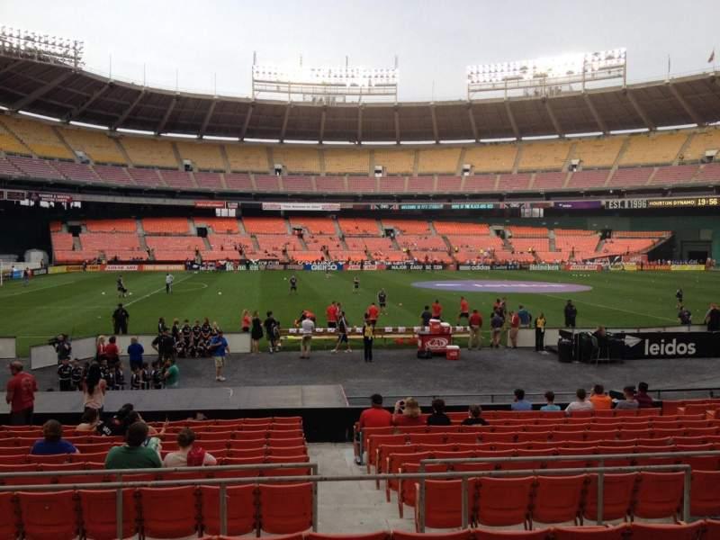 Vista sentada para RFK Stadium Secção 209 Fila 6 Lugar 7