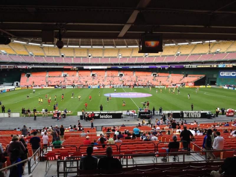 Vista sentada para RFK Stadium Secção 307 Fila 9 Lugar 10