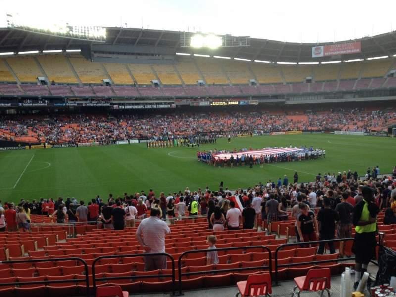 Vista sentada para RFK Stadium Secção 336 Fila 4 Lugar 11