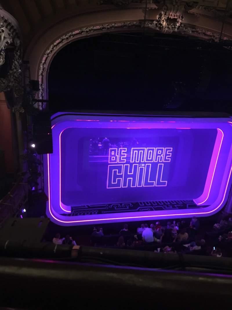 Vista sentada para Lyceum Theatre (Broadway) Secção Balcony R Fila A Lugar 3
