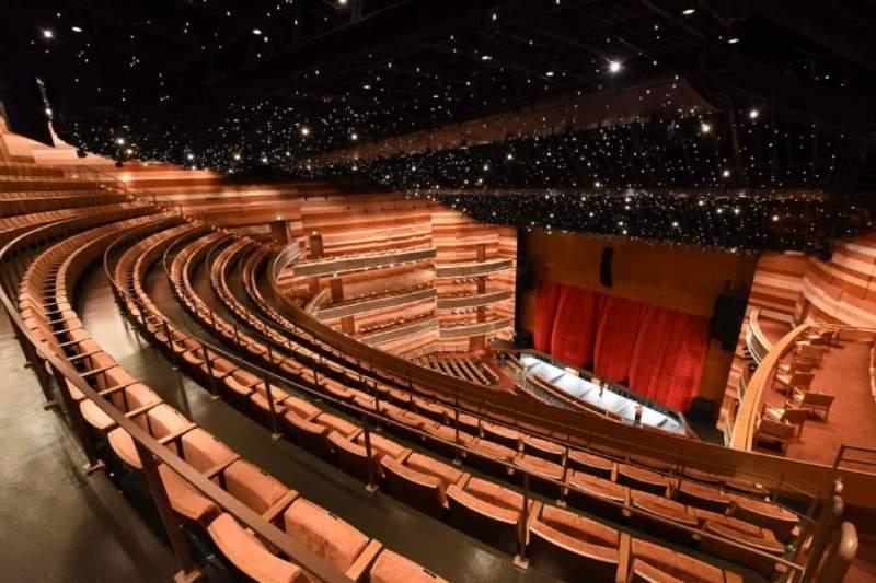 Vista sentada para Eccles Theater Secção 3TR Fila E Lugar 49