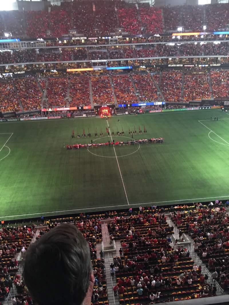 Vista sentada para Mercedes-Benz Stadium Secção 312 Fila 2 Lugar 12