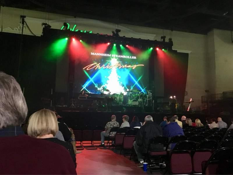 Vista sentada para Orleans Arena Secção Floor 3 Fila L Lugar 1