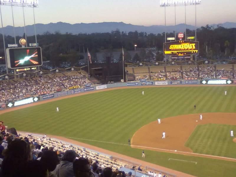 Vista sentada para Dodger Stadium Secção top deck
