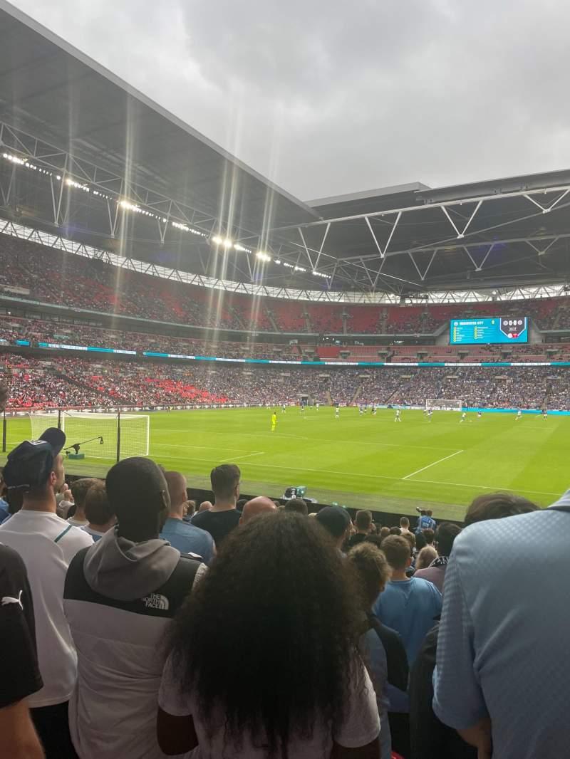 Vista sentada para Wembley Stadium Secção 109 Fila 16 Lugar 210