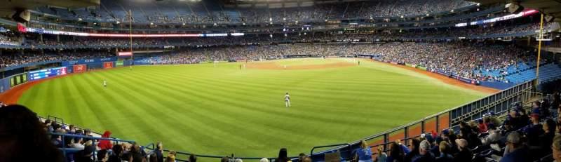 Vista sentada para Rogers Centre Secção 138L Fila 9 Lugar 101