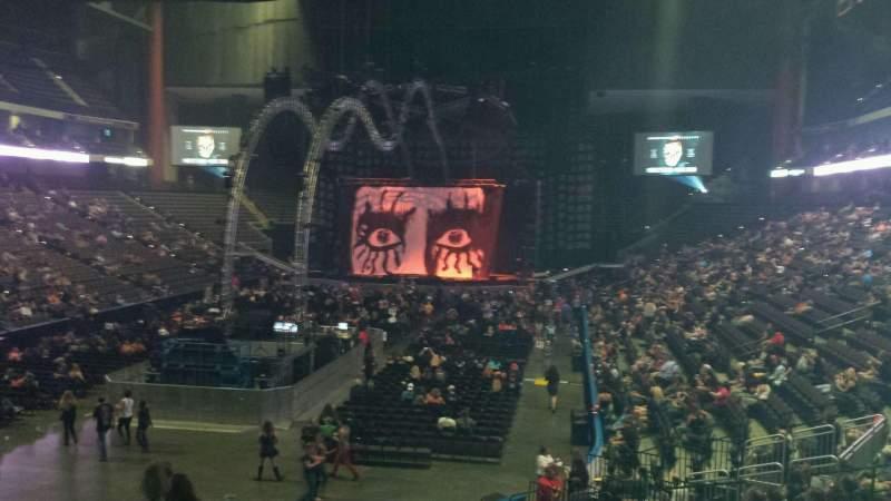 Vista sentada para VyStar Veterans Memorial Arena Secção 107 Fila T Lugar 21