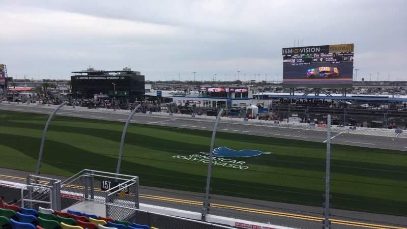 Vista sentada para Daytona International Speedway Secção 158 Fila 11 Lugar 11