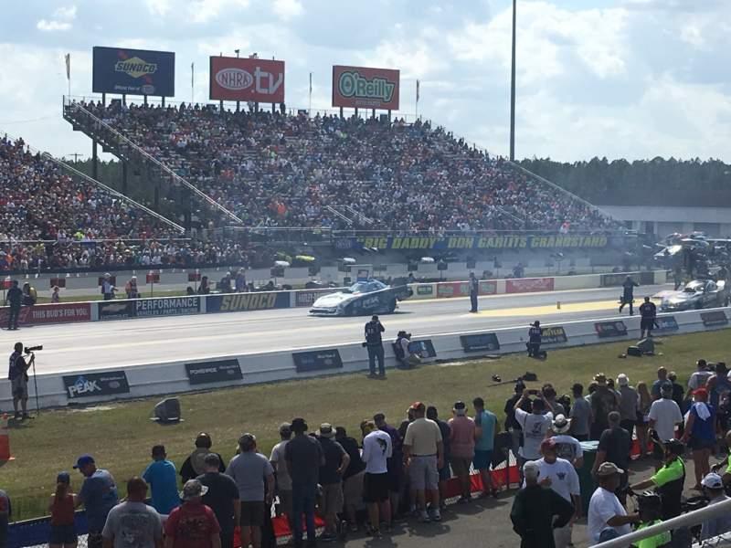 Vista sentada para Gainesville Raceway Secção GA