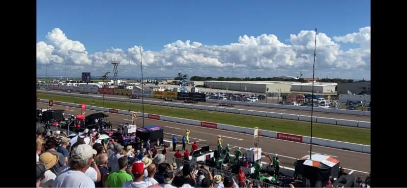 Vista sentada para Indy Car Road Coarse St. Petersburg Secção Grand Stand 7 Fila 25