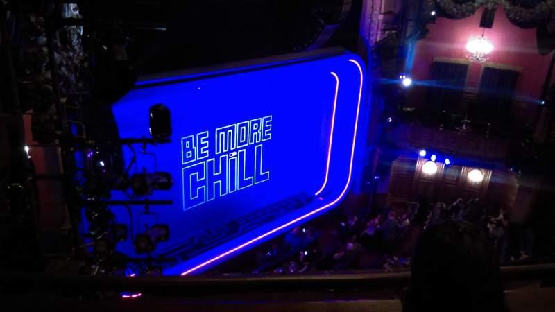 Vista sentada para Lyceum Theatre (Broadway) Secção Balcony Fila B Lugar 23