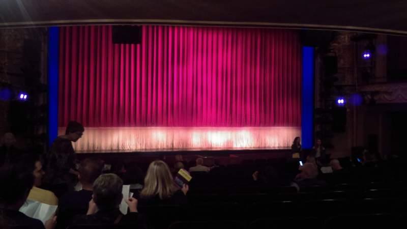 Vista sentada para Longacre Theatre Secção Orchestra C Fila Q Lugar 115