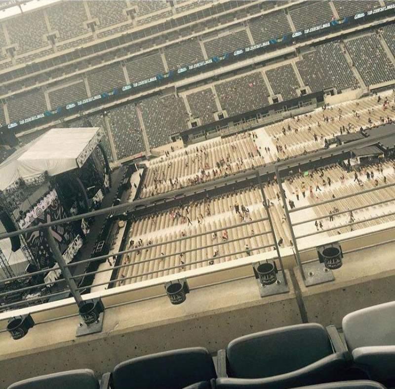 Vista sentada para MetLife Stadium Secção 339 Fila 3 Lugar 14