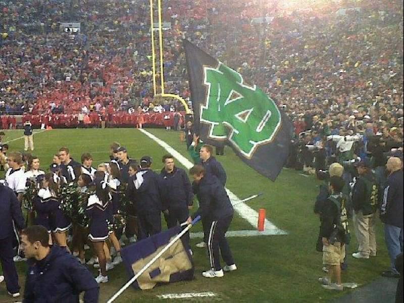 Vista sentada para Notre Dame Stadium Secção 24 Fila 2