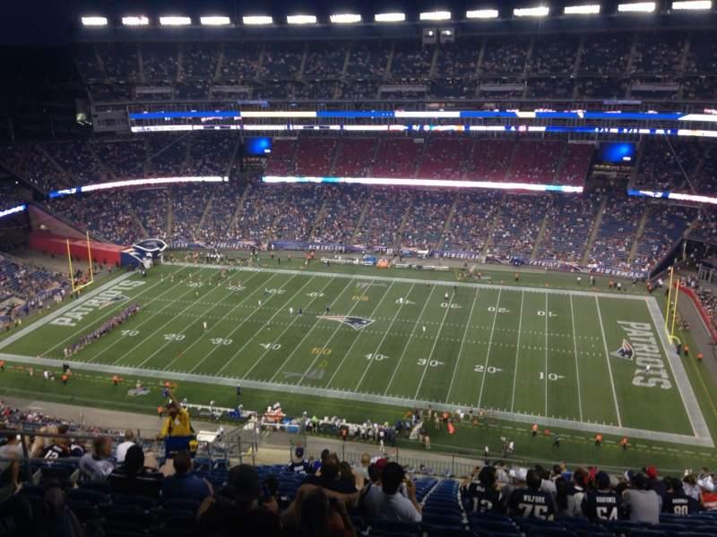 Vista sentada para Gillette Stadium Secção 329 Fila 25 Lugar 17