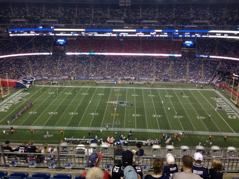 Vista sentada para Gillette Stadium Secção 331 Fila 13 Lugar 13