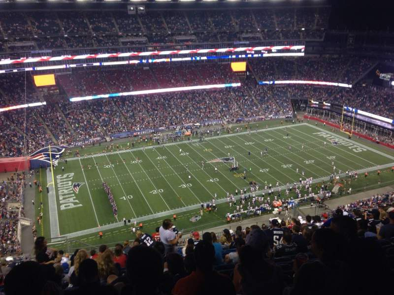 Vista sentada para Gillette Stadium Secção 335 Fila 25 Lugar 20