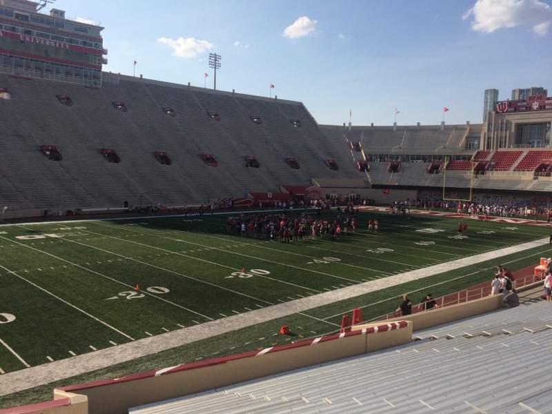 Vista sentada para Memorial Stadium (Indiana) Secção 30 Fila 24 Lugar 103