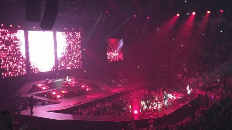 Vista sentada para Manchester Arena Secção 103 Fila S Lugar 6