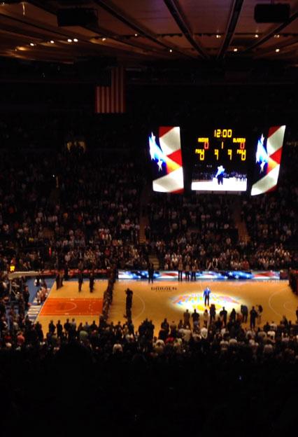 Vista sentada para Madison Square Garden Secção 406 Fila A Lugar 17