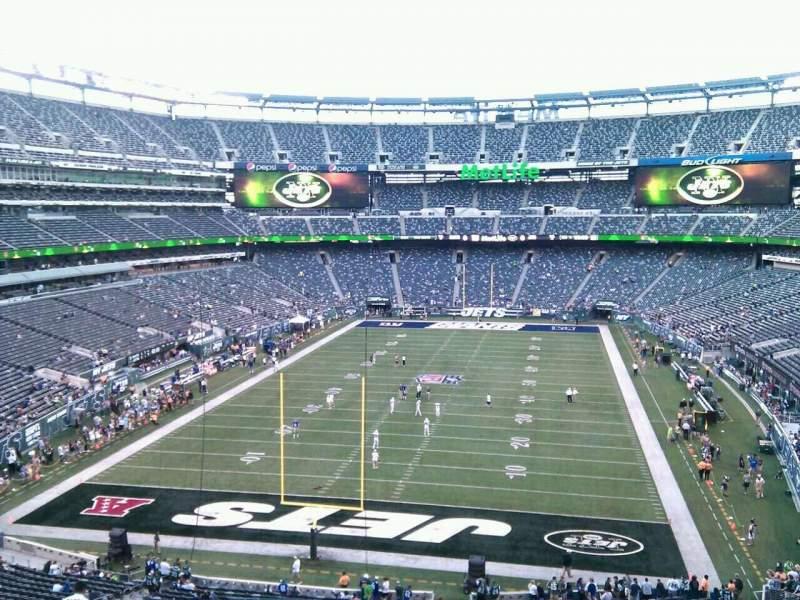 Vista sentada para MetLife Stadium Secção 224a Fila 13 Lugar 16