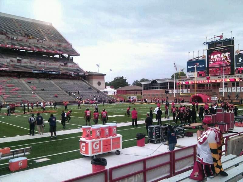 Vista sentada para Maryland Stadium Secção 24 Fila g Lugar 10