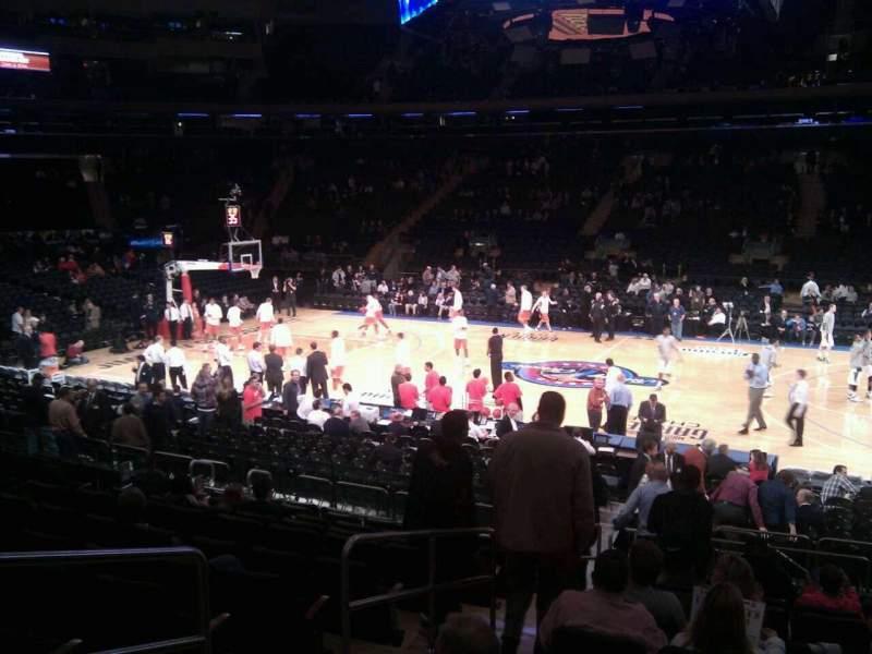 Vista sentada para Madison Square Garden Secção 108 Fila 12 Lugar 3