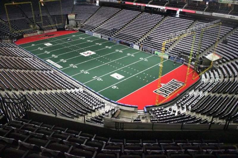Vista sentada para Jacksonville Veterans Memorial Arena Secção 317 Fila F Lugar 7